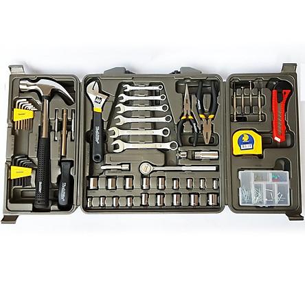 Bộ dụng cụ cầm tay TechRite HTT0049, gồm 160 chi tiết với hộp bảo quản, giúp việc sửa chữa gia đình, văn phòng được dễ dàng