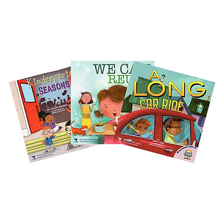 Readers For i-Learn Smart Start Level 3: Kindergarten Seasons, We Can Reuse It!, A Long Car Ride