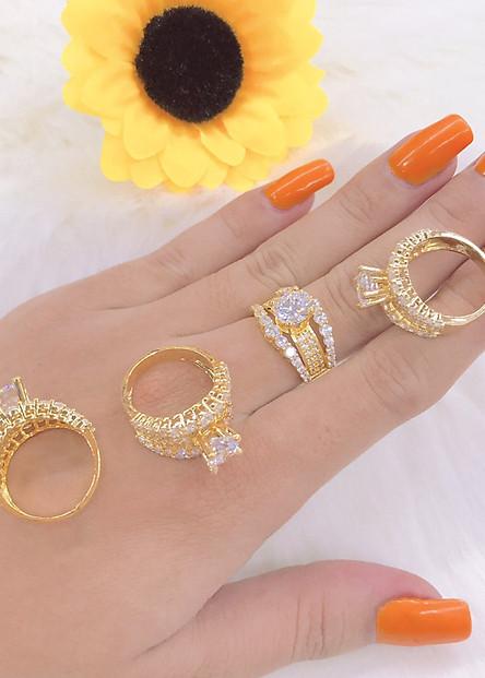 Nhẫn nữ mạ vàng 18k mã ek3115