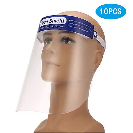 Miếng che bảo vệ toàn mặt hằng ngày bằng nhựa trong suốt có thể điều chỉnh phù hợp với mọi người