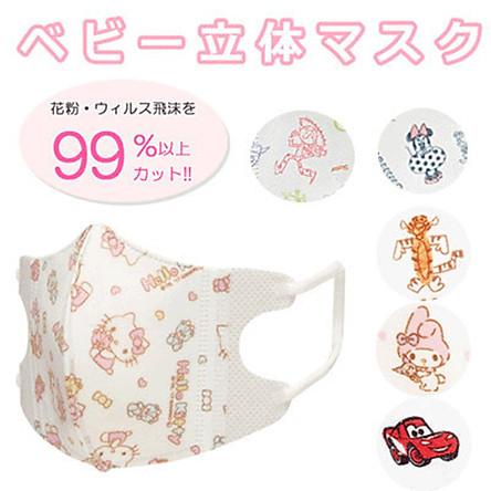 Set 5 Khẩu Trang Bảo Vệ Bé Yêu Hello Kitty - Nội Địa Nhật Bản