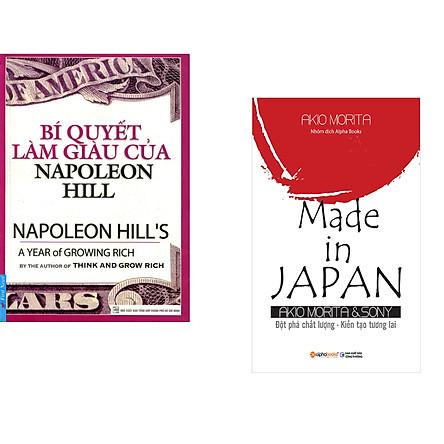 Combo 2 cuốn sách: Bí Quyết Làm Giàu Của NapoLeon Hill + Made in Japan