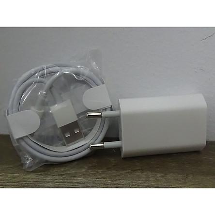 Combo bộ Sạc Nhanh dành cho iPhone 6 (gồm Adapter dẹt và cáp) màu trắng