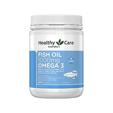 Australia Healthy Care Fish Oil 1000Mg Omega 3 400 Capsules