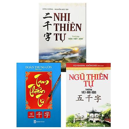 Combo 3 cuốn Hán - Việt - Nôm: Nhị Thiên Tự + Tam Thiên Tự + Ngũ Thiên Tự