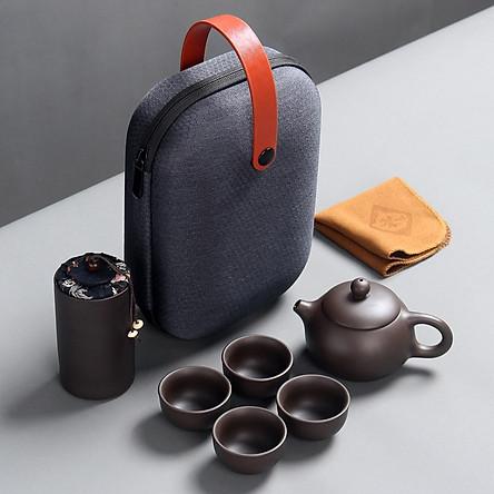 Bộ bình trà có túi đựng đi du lịch tiện lợi