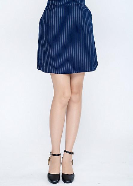 Chân váy công sở nữ dáng A LAMER L62F17T031-P3215 (Xanh dương)