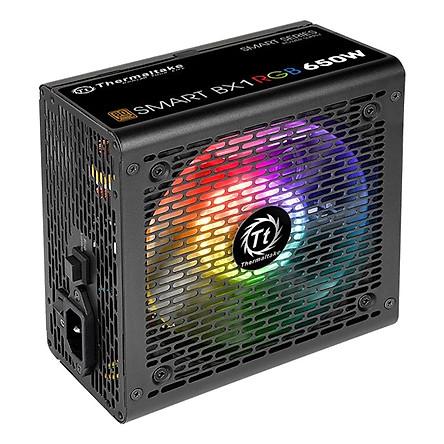 Nguồn Máy Tính PSU Thermaltake Smart BX1 RGB 650W 80 Plus Bronze PS-SPR-0650NHSABX-1 120mm - Hàng Chính Hãng