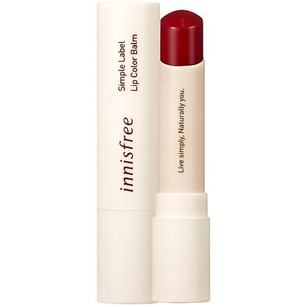 Son Dưỡng Môi Có Màu Innisfree Simple Label Lip Color Balm #1 3.2g - 131171749