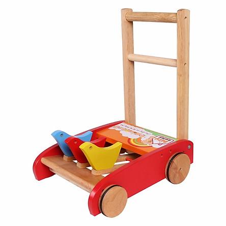 Xe tập đi bằng gỗ tiện lợi (giao mẫu ngẫu nhiên)