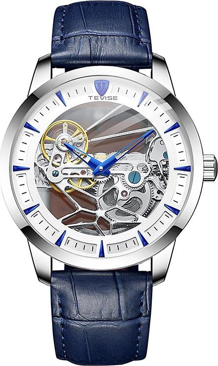 Đồng hồ cơ cho nam sang trọng TEVISE chống nước 30M thiết kế khắc hình đầu lâu