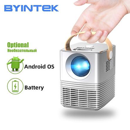 Máy chiếu Mini Thông minh Byintek 720HD, Android, tích hợp Pin - Hàng chính hãng