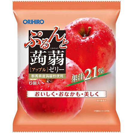 Combo 6 gói Thạch trái cây Orihiro vị Táo đỏ 120gr