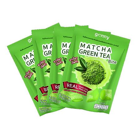 Combo 4 gói Bánh snack Ngũ Cốc Grinny nhân Trà Xanh - Matcha Green Tea