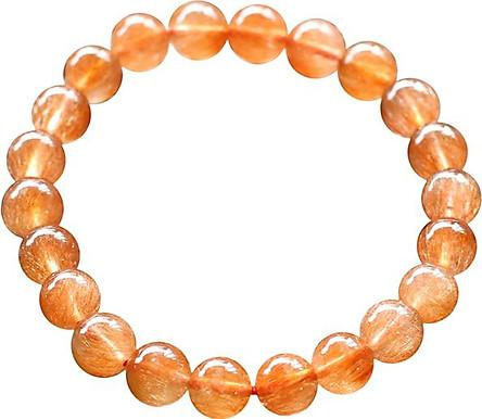 Vòng Thạch Anh Tóc Đỏ Myanmar 11mm Ngọc Quý Gemstones VT120