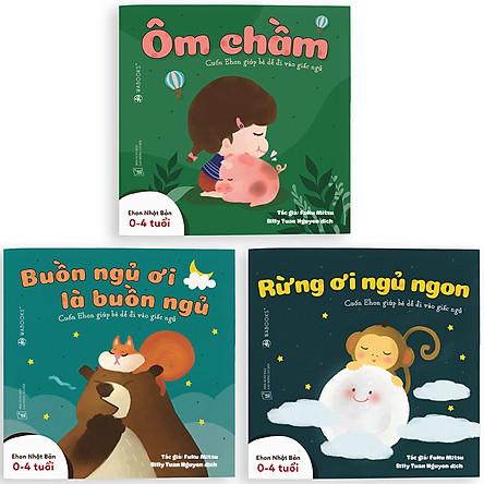 Combo 3 Cuốn Sách Ehon: Buồn Ngủ Ơi Là Buồn Ngủ (Dành Cho Trẻ Từ 0 - 4 Tuổi)