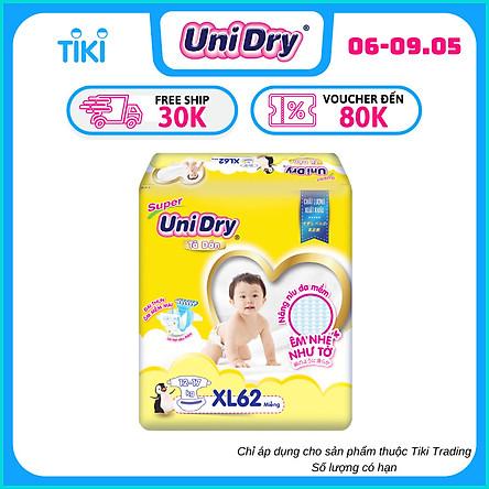 Tã Dán Cho Bé Unidry (G6+) Size XL62 (62 miếng)