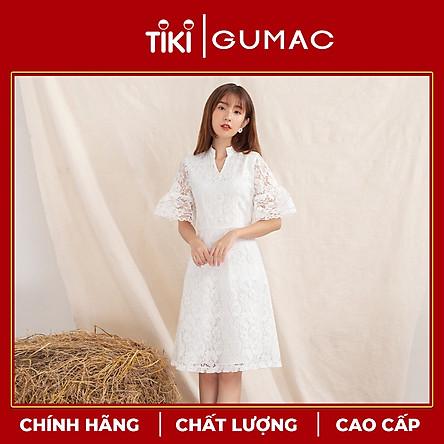 Đầm váy nữ DA10113 GUMAC thiết kế  ren tay loe