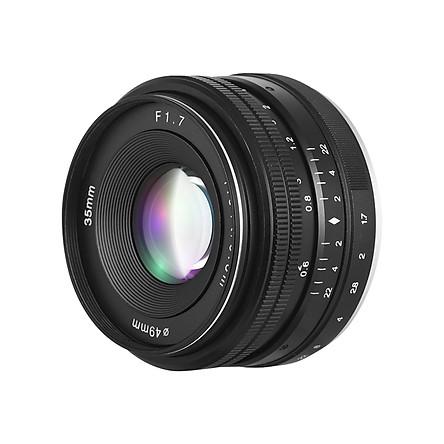 35mm F1.7 Large Aperture Manual Prime Fixed Lens for Sony E-Mount Digital Mirrorless Cameras NEX 3 NEX 3N NEX 5 NEX 5T