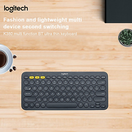 Logitech K380 Wireless BT Keyboard Multi-device Pairing Compatible with macOS Computers iPads iPhones