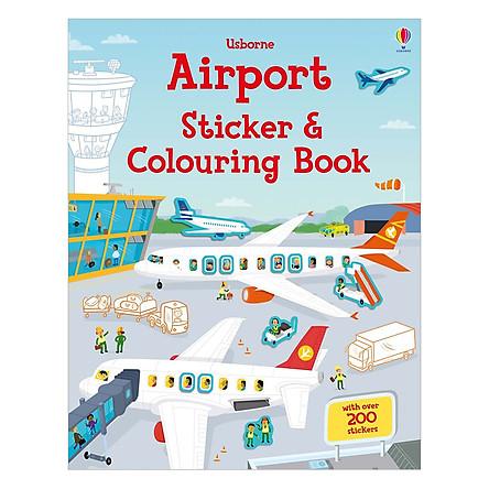 Sách tô màu Airport Sticker And Colouring Book