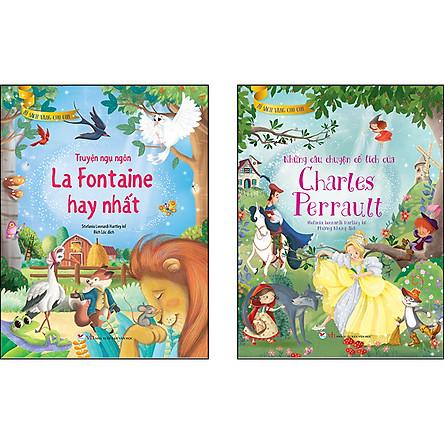 Combo 2 Cuốn: Tủ Sách Vàng Cho Con [Truyện ngụ ngôn La Fontaine hay nhất + Những câu chuyện cổ tích của Charles Perrault]