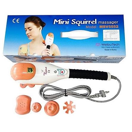 Máy Massage toàn thân cầm tay Hàn Quốc Mini Squirrel - 5 đầu chức năng - Mini Squirrel ( made in Korea)