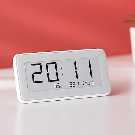 Nhiệt kế đa chức năng Xiaomi Mi Pro chính hãng, đồng hồ kỹ thuật số, cảm biến nhiệt độ và độ ẩm điện tử, nhiệt kế không dây và độ ẩm liên kết thông minh Mi Home APP