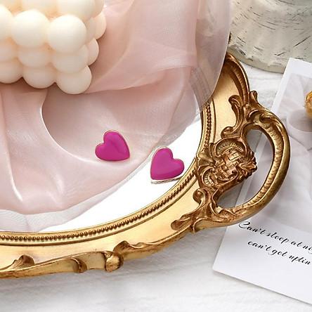 Bông tai hình trái tim ngọt ngào đơn giản