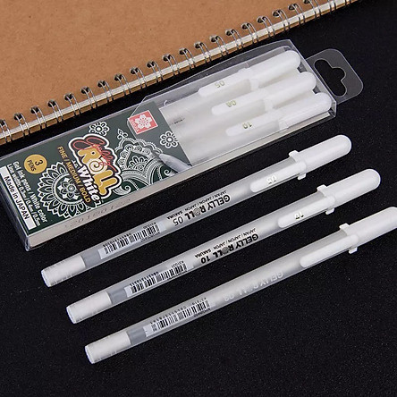 Set 3 bút gel trắng Gelly Roll ngòi 05, 08, 10