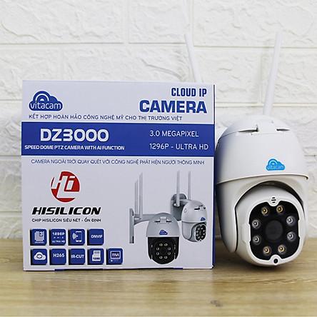 Camera Ip Wifi Ngoài Trời Vitacam DZ3000  3.0MP Độ Phân Giải 1296P Ultra HD - Hàng Chính Hãng