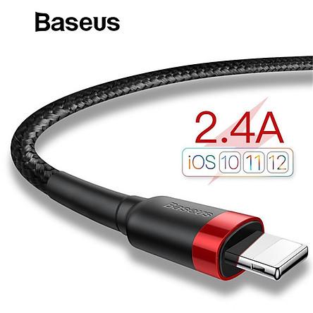 Cáp sạc iPhone 5/6/7/8/X/XS/XS Max Baseus Cafule dài 1m - Hàng chính hãng