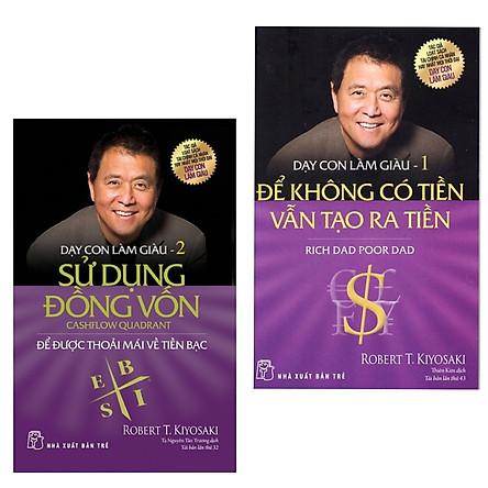 Bộ 2 cuốn sách về kinh tế hay nhất : Dạy Con Làm Giàu (Tập 1) - Để Không Có Tiền Vẫn Tạo Ra Tiền  + Dạy Con Làm Giàu (Tập 2) - Sử Dụng Đồng Vốn (Tặng kèm Bookmark thiết kế  AHA)