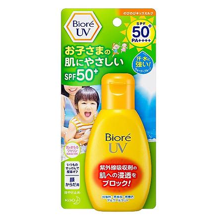 Sữa chống nắng cho trẻ em Biore UV Kids Milk SPF50+ PA++++ 90ml
