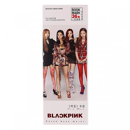 Bookmark Blackpink nền trắng 4 thành viên