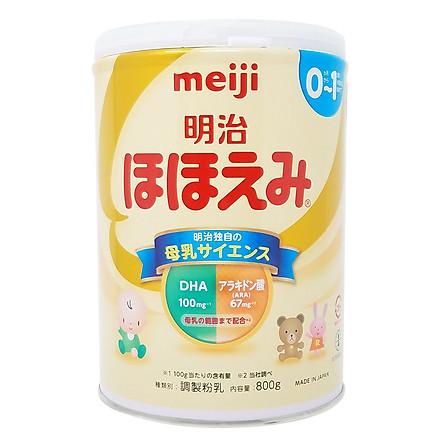 Sữa Bột Meiji Nội Địa Hohoemi Milk Số 0 (800g)