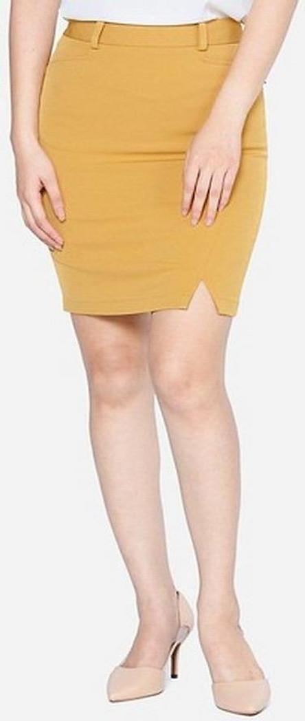 Chân Váy Nữ Xẻ Trước VDS2051Vas - Vàng