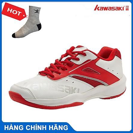 Giày cầu lông kawasaki K088 chính hãng dành cho cả nam và nữ, đế đàn hồi, chống trơn trượt  - tặng tất thể thao bendu