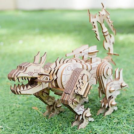 Đồ chơi lắp ráp gỗ 3D Mô hình Mô hình Khủng long Robot Ravage
