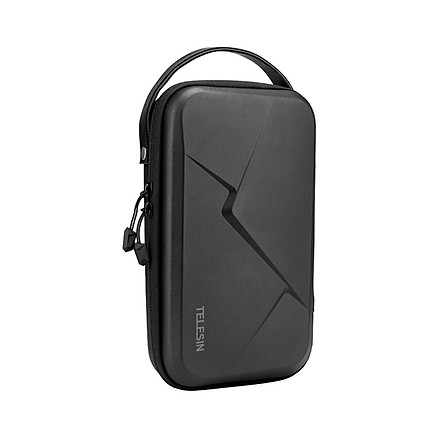TELESIN Portable Storage Bag Waterproof EVA Carrying Case DIY Storage Box Compatible with DJI OSMO Action OSMO Pocket
