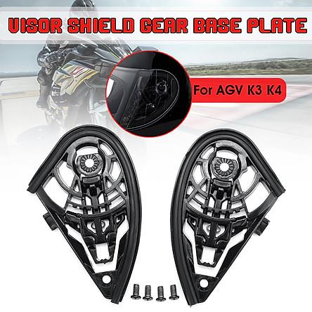 Motorcycle Helmet Visor Shield Gear Base Plate Set For AGV K1 K3SV K5 / K3 K4  (K3 K4)