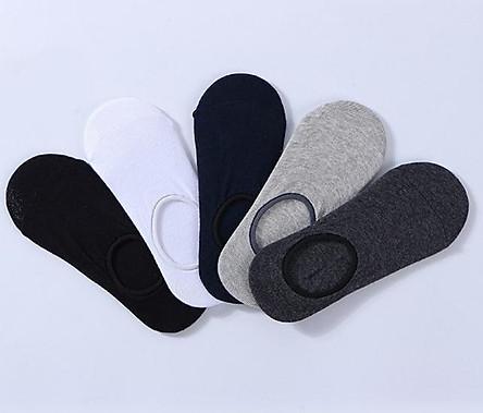Combo 10 đôi tất lười, vớ lười nam dấu gót Hàn Quốc