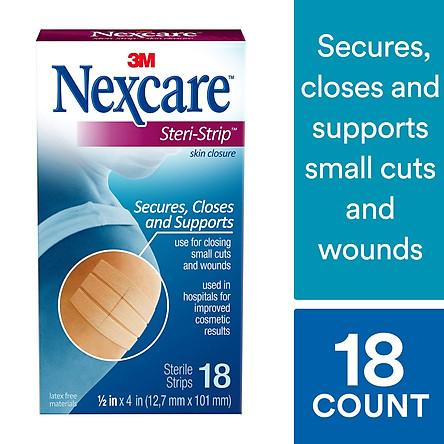 Băng y tế thay chỉ khâu da  Nexcare H1547( 18 miếng 12.7mmx101mm)