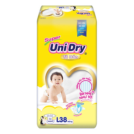 Tã Dán Cho Bé Unidry (G6+) Size L38 (38 miếng)