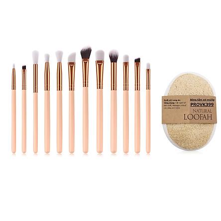 Bộ cọ trang điểm hồng pastel Make up brush set IM00021-PINK + Tặng bông tắm xơ mướp PROVK399