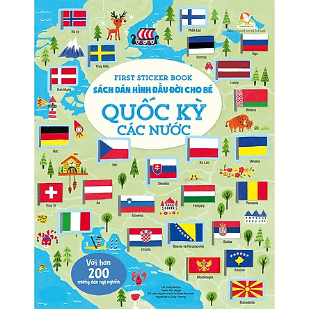 First Sticker Book - Sách Dán Hình Đầu Đời Cho Bé - Quốc Kỳ Các Nước