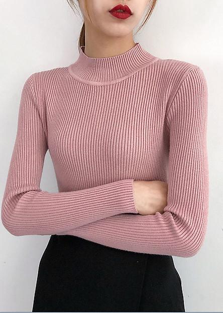 Áo len cổ 3 phân tay dài