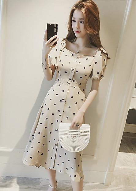 Váy midi tiểu thư thời trang RD022