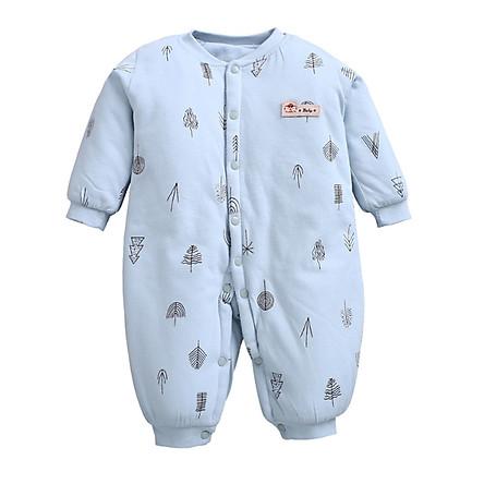 Body Bông Cho Bé 0-12 Tháng Tuổi, Quần áo ấm thu đông cho trẻ sơ sinh, Bộ áo liền quần bodysuit cho bé
