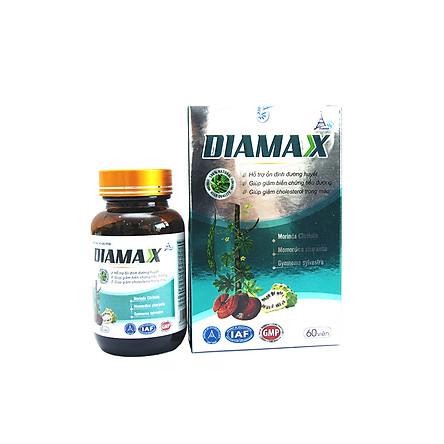 Hỗ trợ giảm đường huyết và giảm cholesterol trong máu DIAMAX - Lọ 60 viên.